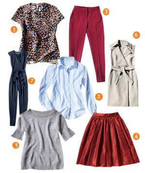 7 pieces to mix and matchCrew Red, Fashion Shoes, Fashion Staples, Fall Wardrobes, Style, Clothing, Beautiful, Fall Outfits, Beauty