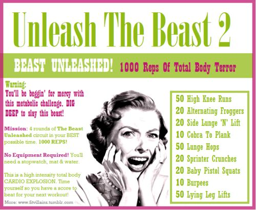 Unleash The BEAST 2: BEAST UNLEASHED! 1000 Reps Of Total Body Terror