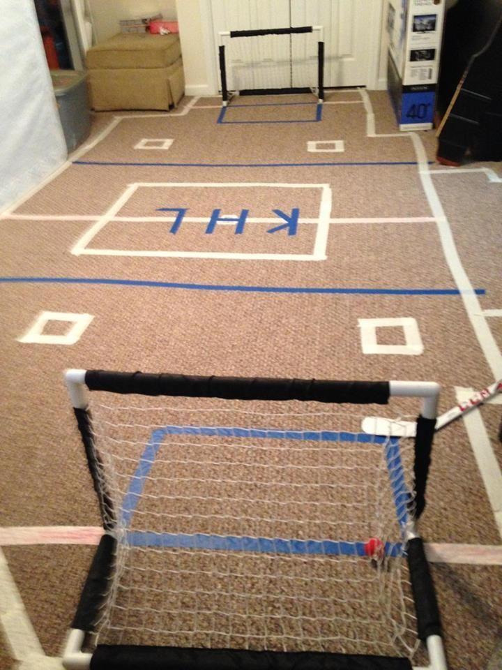 Knee Hockey Rink Perfect For Any Hockey Fan Loveyourgame In 2020 Hockey Party Hockey Birthday Parties Hockey Birthday