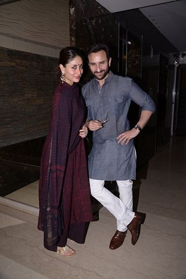 Kareena Kapoor Khan with hubby Saif Ali Khan on Mehendi ceremony day