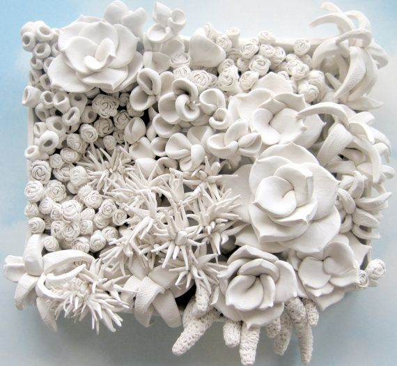 Design Your Own Large Succulent Clay Wall Sculpture by DillyPad, $495.00