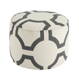 Shop for Signature Design by Ashley Geometric Charcoal Pouf. Get free shipping at Overstock.com - Your Online Furniture Outlet Store! Get 5% in rewards with Club O! - 17234485