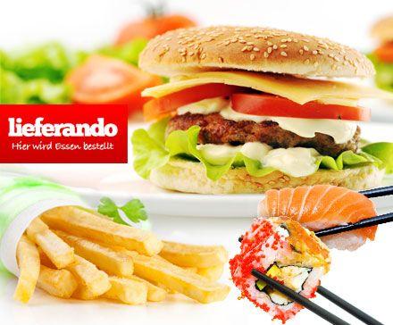 Pasta, Sushi, Burger & mehr in Deiner Stadt bequem online über lieferando.de bestellen und nach Hause liefern lassen – statt 8,00 € für 4,00 €
