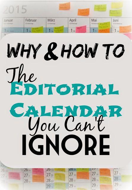 how to set up a blog calendar