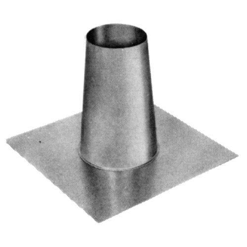 Metalbest 3RV-TF RV 3 Type B Gas Vent Tall Cone Flat Roof Flashing, Silver aluminum