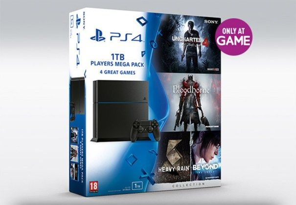 New 1TB PS4 mega bundle includes Uncharted 4 Bloodborne & David Cage collection