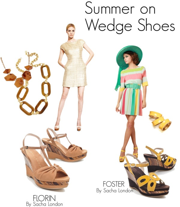 """Summer on Wedge Shoes"" by sachalondon on Polyvore"