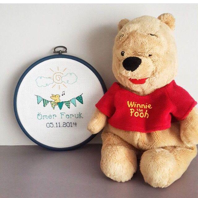 Birthday board, baby chart, cross stitch  Bebek panosu, çarpı işi , kaneviçe