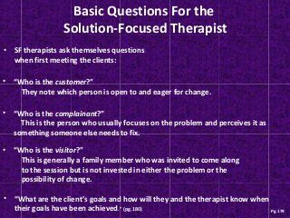 Solution focused therapy ppt                                                                                                                                                                                 More