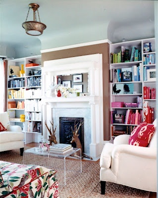 {shelves}Bookshelves, Bookshelf Design, Decor Ideas, Fireplaces, Livingroom, Living Room, Bookcas, Front Room, Painting Ceilings