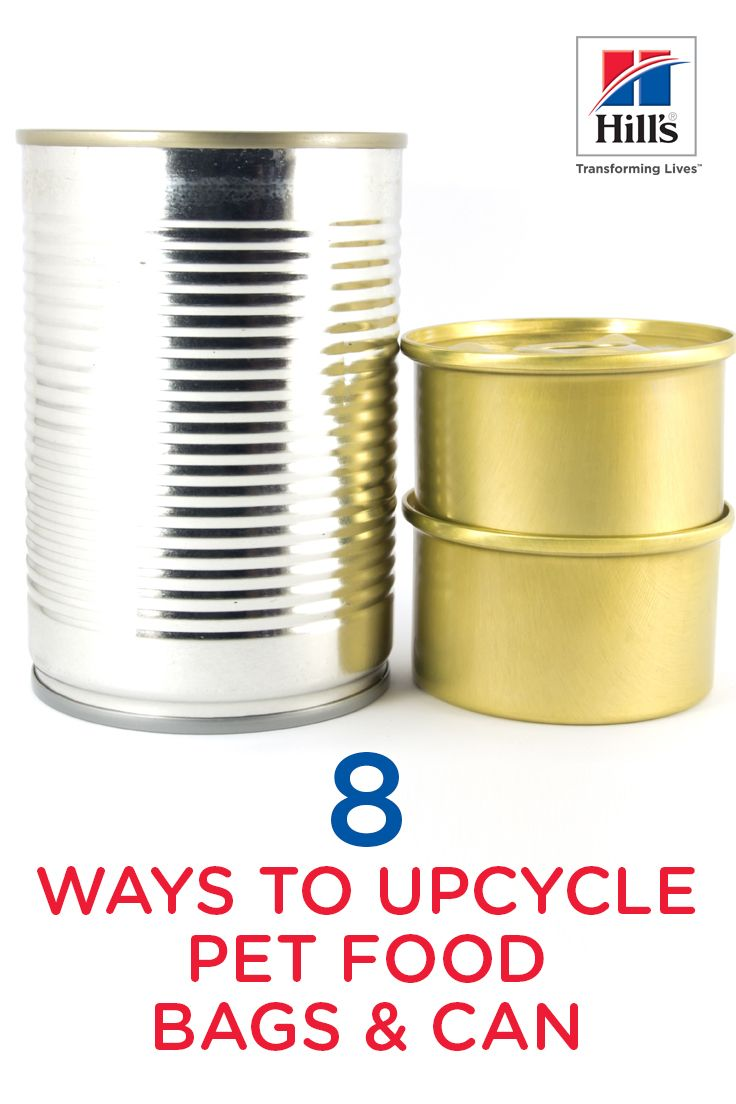 8 Ways To Upcycle Your Pet Food Bags And Cans Dog Food Storage