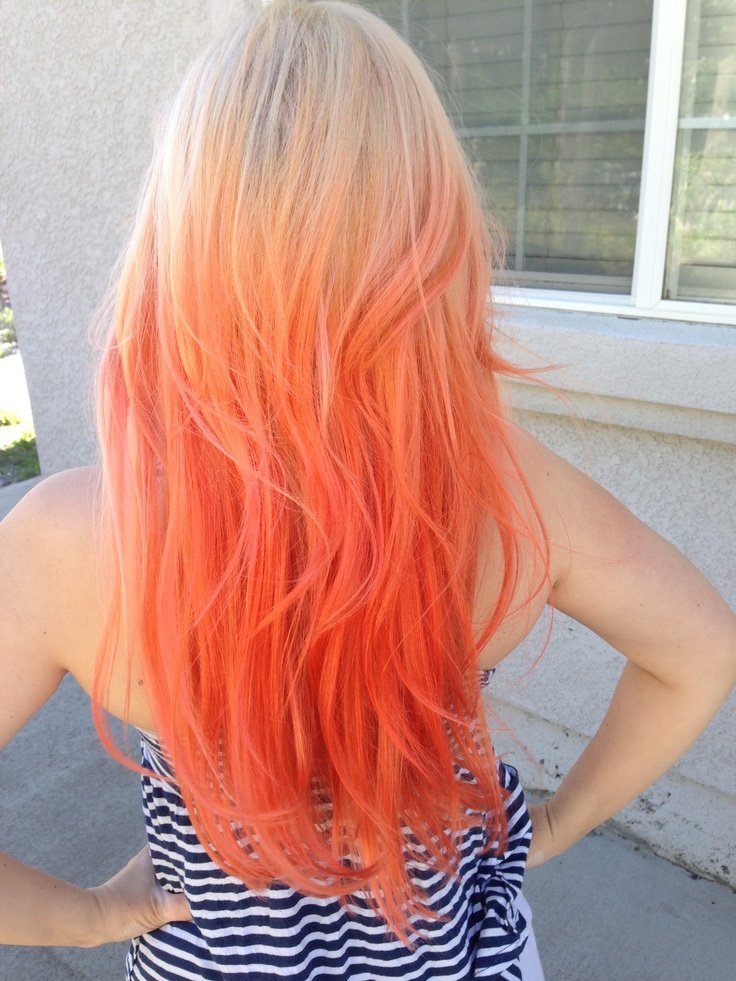 Blonde To Orange Ombr 233 Hair Raising Styles Pinterest