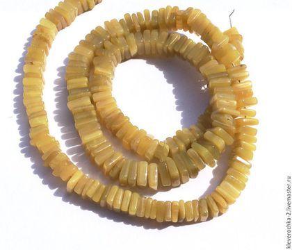 Для украшений ручной работы. Ярмарка Мастеров - ручная работа. Купить .Опал желтый чипсы рондель бусины камни для украшений. Handmade.