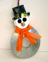 Resultado de imagen para adornos navideños reciclados con cd