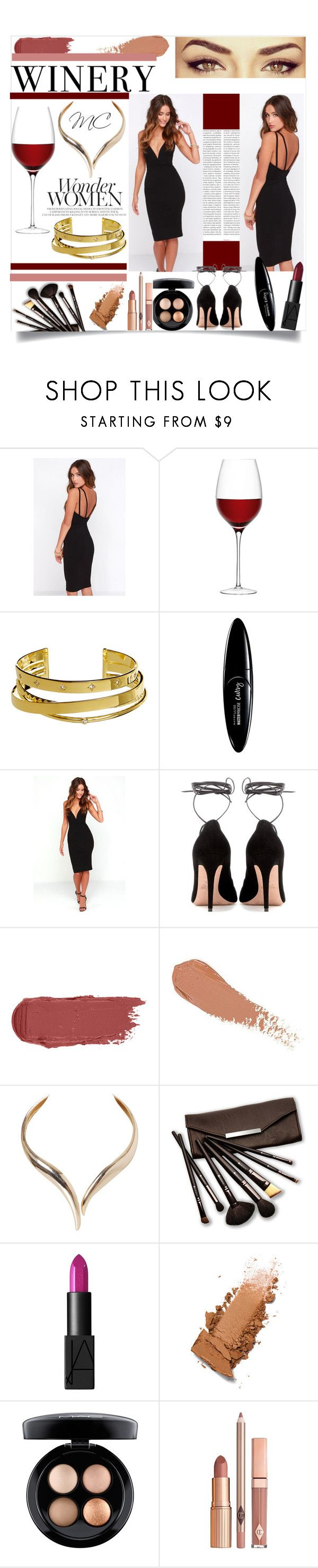 """Wedding guest"" by mc-divine ❤ liked on Polyvore featuring Oris, LULUS, ALDO, LSA International, Elizabeth and James, Maybelline, Valentino, Humble Chic, Borghese and NARS Cosmetics"