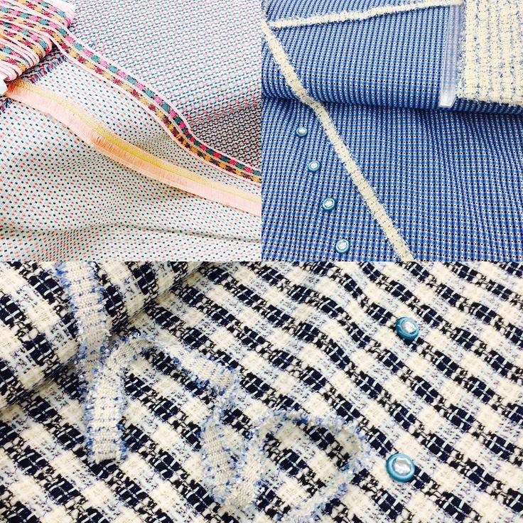Los que vivimos en #Galicia sabemos que siempre le sacaremos partido a nuestras chaquetas de #entretiempo o #verano. Se acerca #septiembre y las noches frescas y no queremos renunciar a los #colores y la #ropaalegre, por ello hoy queremos mostraros estas combinaciones #telpestelas #telas #moda #tendencia #combinaciones #perfectoparachanelitas #tweed #verano #entretiempo