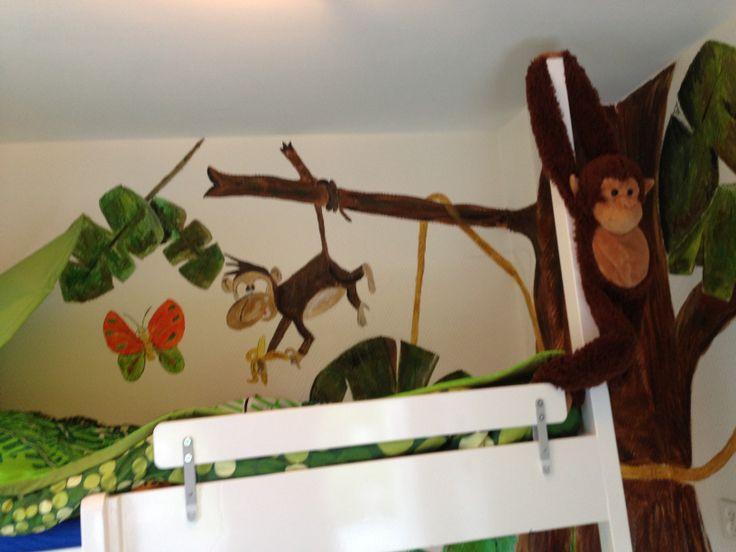 Andere deel van de jungleboom bij het jongetje van 4 op zijn kamer