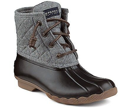 Sperry Top-Sider Saltwater Wool Duck Boot size 8.5 gray