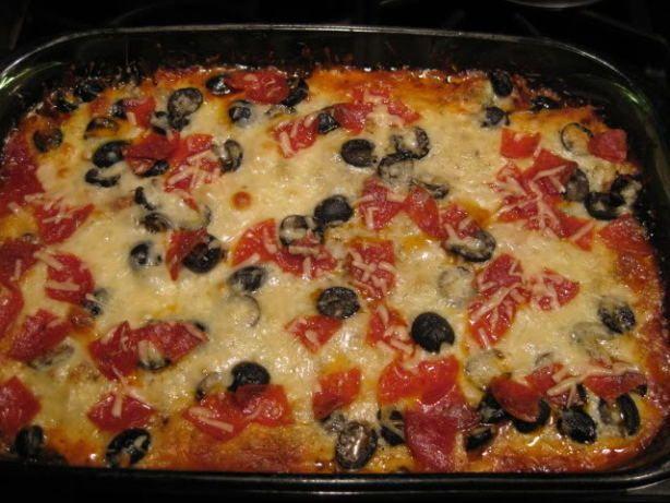 Low Carb Supreme Pizza Casserole