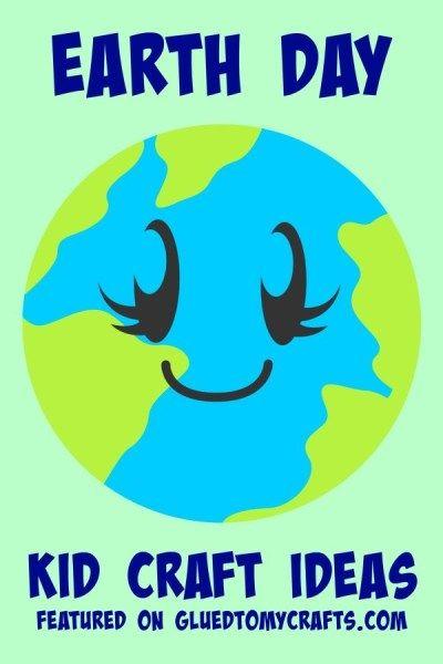 Earth Day Kid Bastelideen mit recycelten Materialien   – Glued To My Crafts #gluedtomycrafts