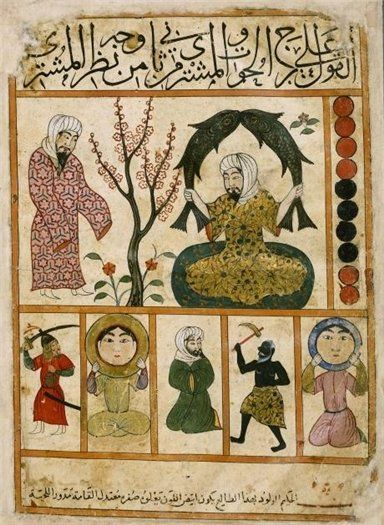 Pisces - Persian astrology, 14th century transcript of 'Kitâb al-Mawalid' ('The Book of Nativities' , 9th century) by Abû Ma'shar Ibn Balkhi