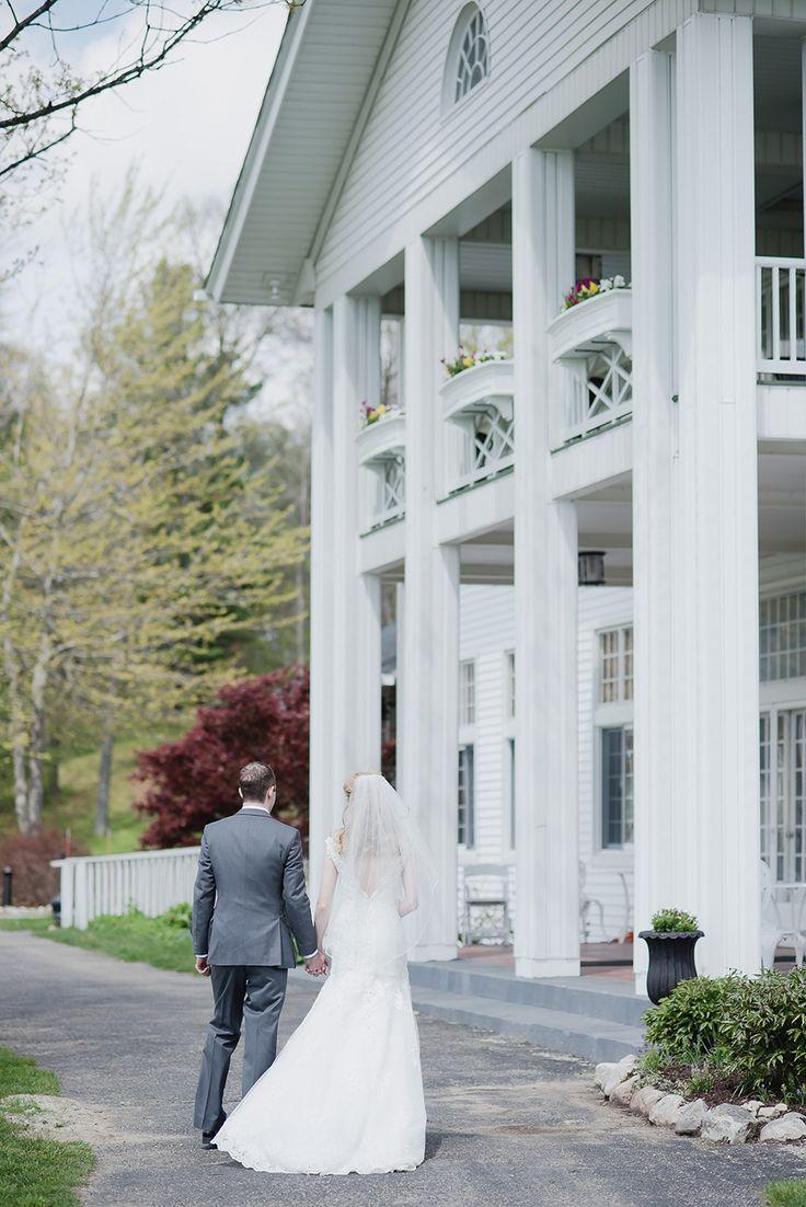 Bride and groom portraits at Waldenwoods Resort in Hartland, Michigan. Spring Waldenwoods Wedding in Hartland, Michigan by Kari Dawson Photography