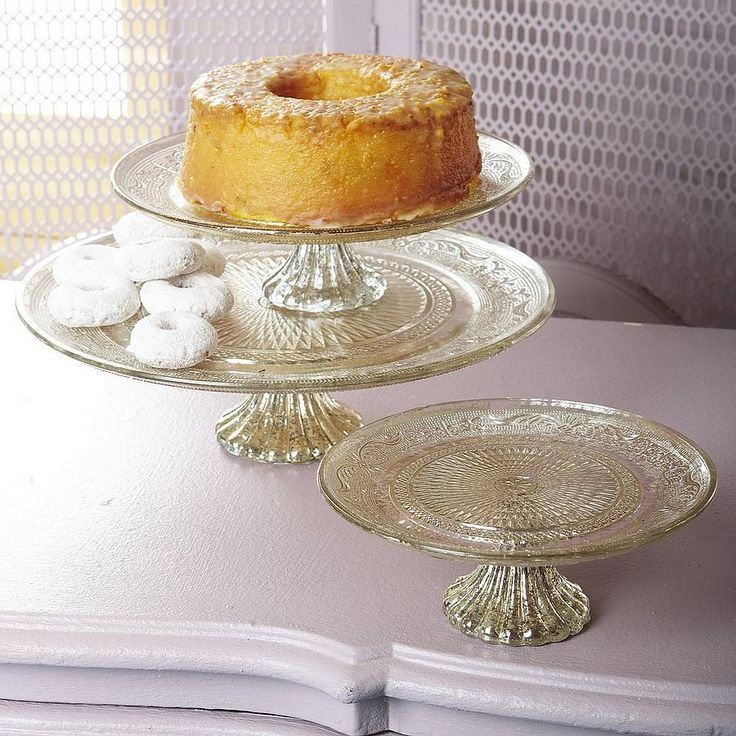 Pressed Glass Cakestand