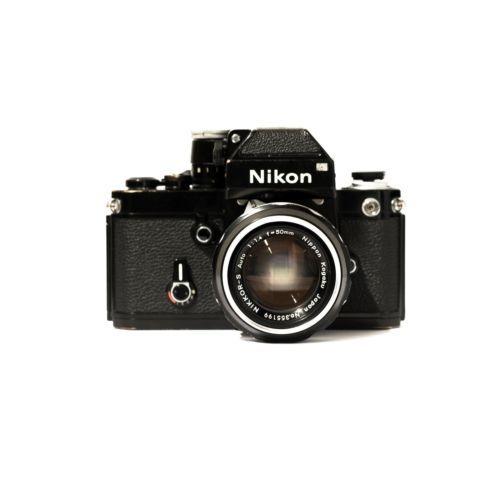 Nikon F2 35mm pro-SLR camera Black with Nikkor-S 50mm Pre-ai F/1.4