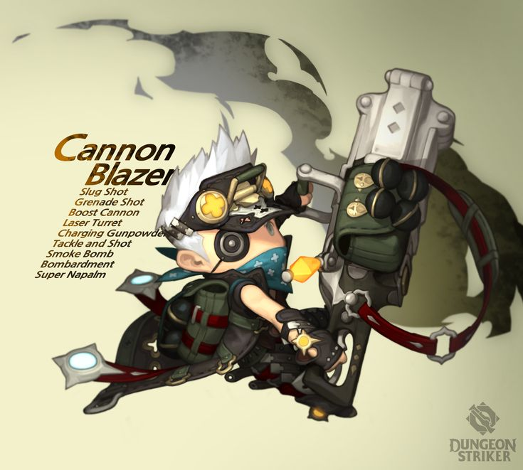 Dungeon Striker - Cannon Blazer male / from Dungeon Striker fansite kit