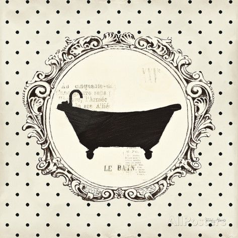 Cartouche Bath Print by Emily Adams at AllPosters.com