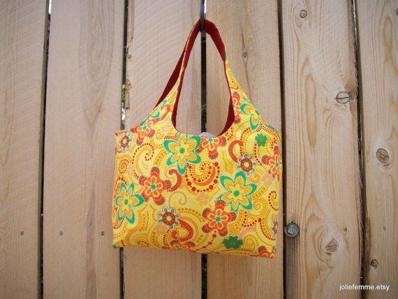 Bright Yellow Blooms  Mini Sac Craft Gathering by joliefemme