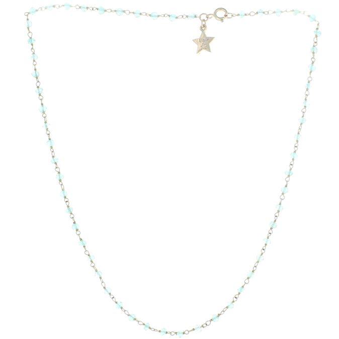 Collier – KIYA1 – Calcédoine bleue