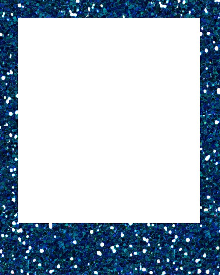 Blue Glitter Frame Png 768 215 960 You Pinterest D Polaroid And Pots