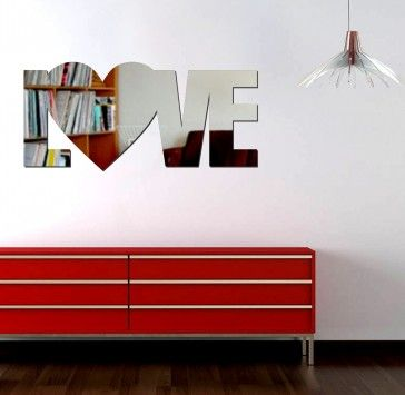 Espelho decorativo acrilico love