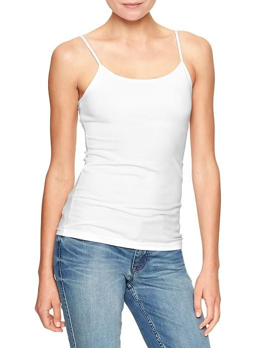 Factory favorite cami | Gap They only have white online, but at the Gap Outlet store, they usually have a lot of colors.... I would like white, black, and green.