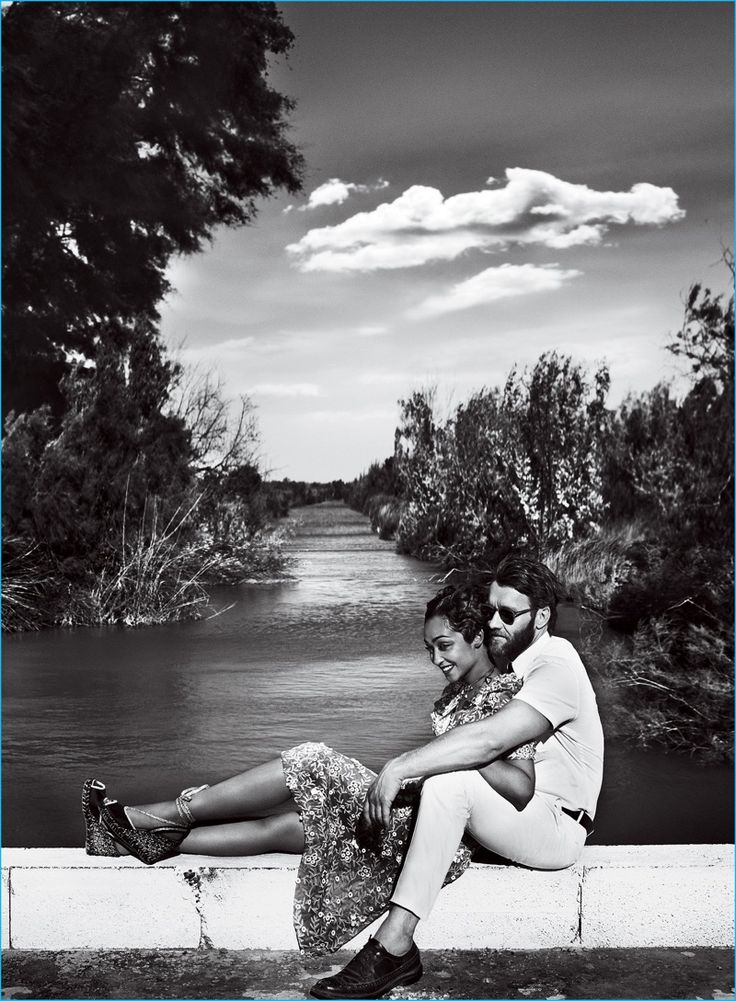 Ruth Negga and Joel Edgerton cozy up for a photo shoot in American Vogue.