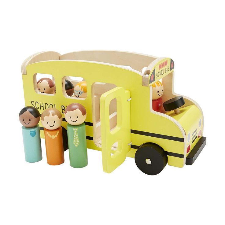 Wooden School Bus Set | Kmart - $15