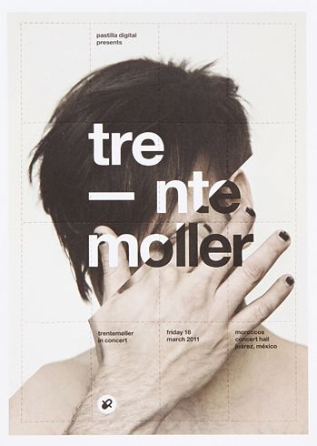 Poster design for Trente Moller by Pastilla Digital.