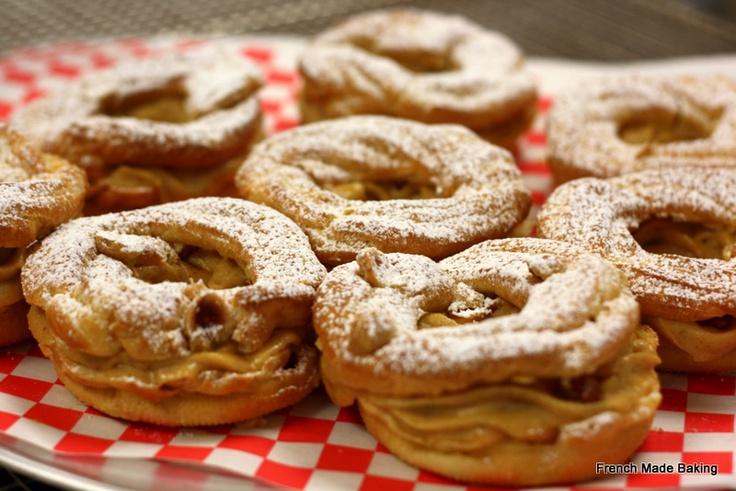 Paris-Brest: choux pastry filled with Hazelnut & Almond Praliné ...