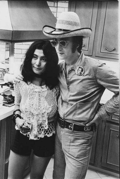 Yoko and John  I'M STARTING TO THINK JOHN TURNED INTO A COMPLETE DICK WHEN HE GOT TANGLED UP WITH YOKO!