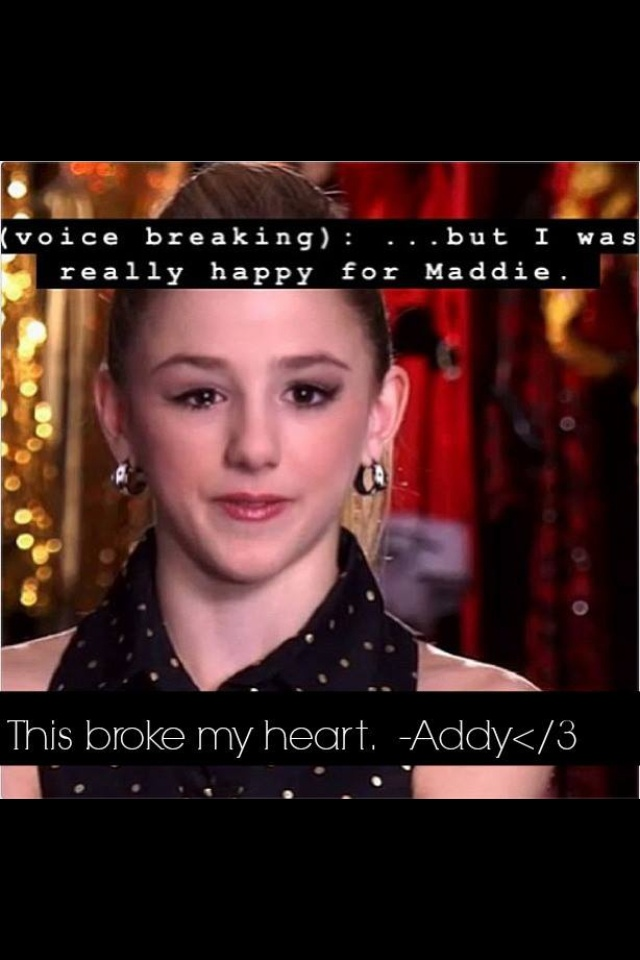 I was seriously this close to crying during this episode of Dance Moms! Poor Chloe!! I hated this and Abby should be really ashamed. Why couldn't she have let Chloe have her moment? REPIN if you agree