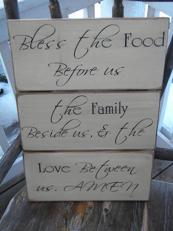 Bless the food before us the family besides us and the by Wildoaks, $49.00
