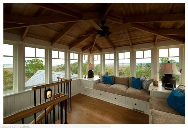 Sunroom Ideas Windows Trim Design Built In Seating