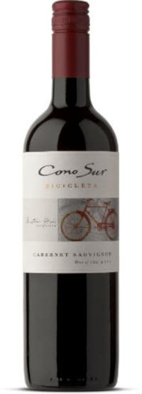 """On Wine: Chilean wines to try - San Jose Mercury News """"the 2010 Cono Sur """"Bicicleta"""" Cabernet Sauvignon ($12), from a winery that every year puts more of its large vineyard holdings under organic certification. The wine is plump, round and easy to drink, with bright cherry, a slight peppery note and medium tannins."""""""
