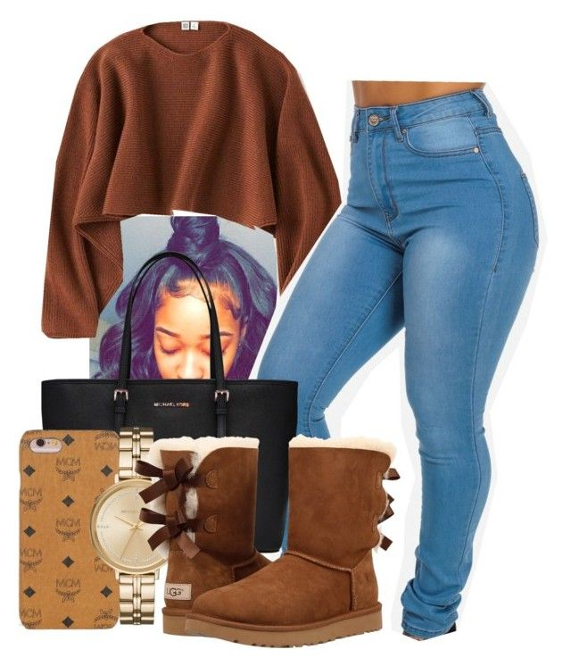 """Untitled #27"" by euphoricish on Polyvore featuring Uniqlo, MICHAEL Michael Kors, Forever 21, MCM, Michael Kors and UGG"