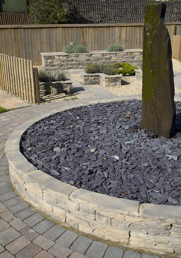 Blue Slate Chippings 40mm | Decorative Aggregates