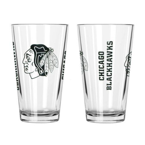 NHL Blackhawks - Game Day Pint Glasses (2) | Chicago Blac...