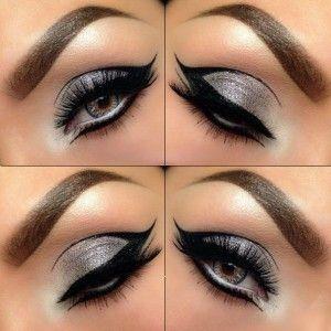 Sparkly Grey & Black make-up