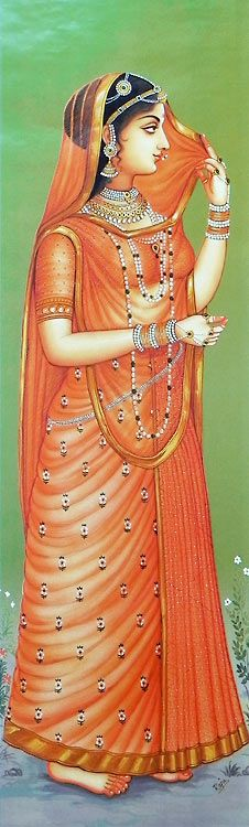 Rajput+Princess+(Reprint+on+Paper+-+Unframed))+