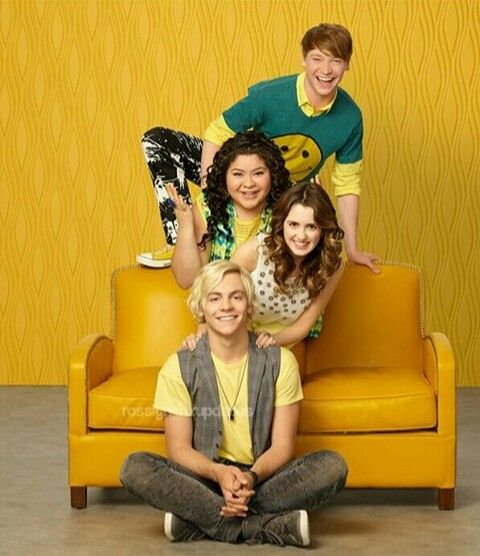 Austin and Ally, Dez and Trish. (Ross lynch, Raini rodriguez, Laura marano and Calum worthy).